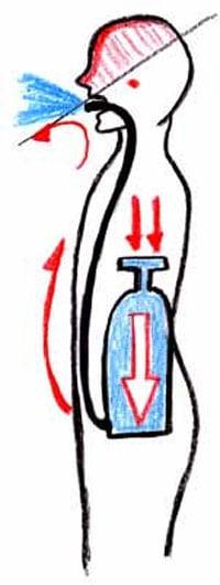息のコントロール横隔膜